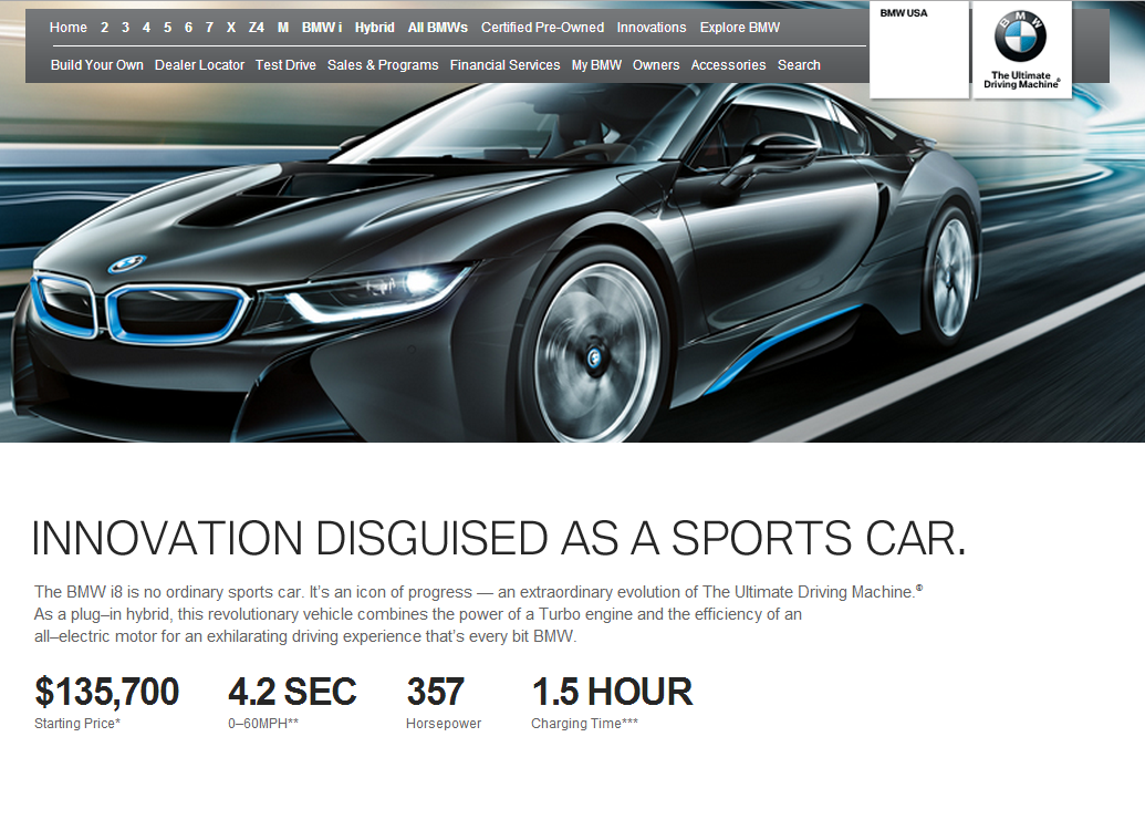 0 60 Times Bmw >> Bmw I8 Specs Updated On Bmwusa Dropping 0 60 To 4 2 Seconds