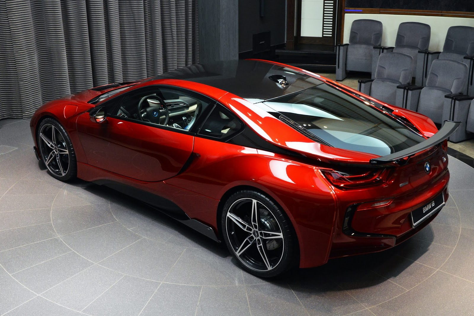 Beautiful Lava Red I8 With Ac Schnitzer Parts