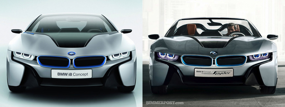 Bmw I8 Spyder And Coupe Concepts Compared