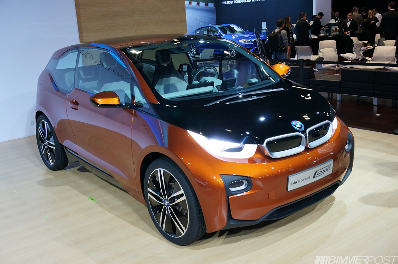 bmw i3 concept coupe electric car debuts. Black Bedroom Furniture Sets. Home Design Ideas
