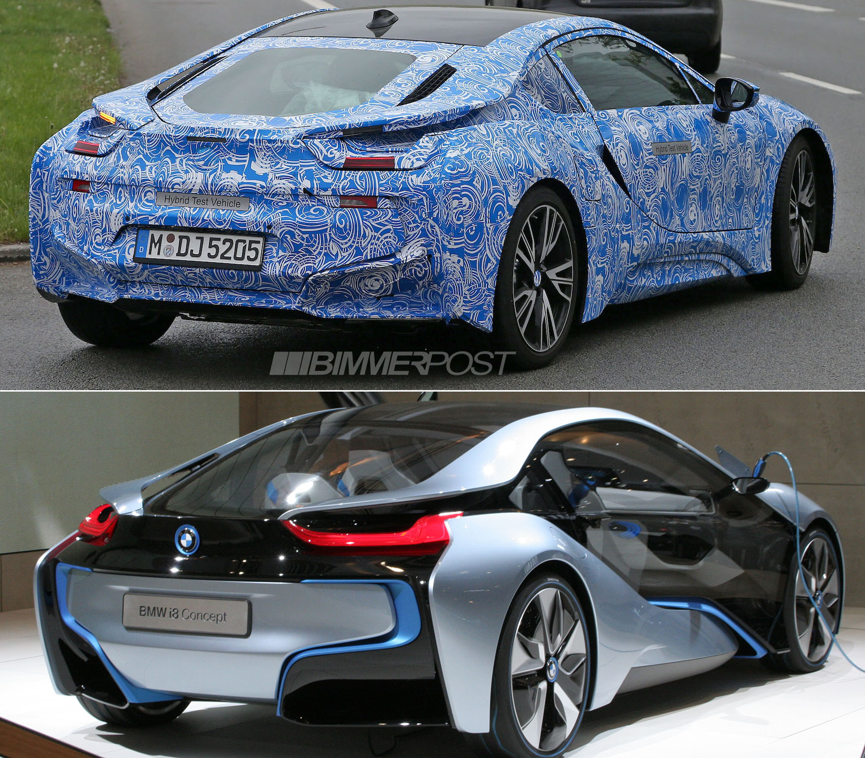 Bmw I8 Sports Production Wheels For First Time And Drops Some Camo